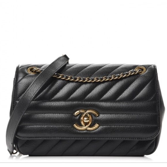 ff4b543b6fec CHANEL Handbags - Authentic Chanel Small Diagonal Quilted Flap Bag